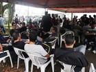 Petroleiros e sindicalistas fazem protesto contra a PEC 55 em Cubatão