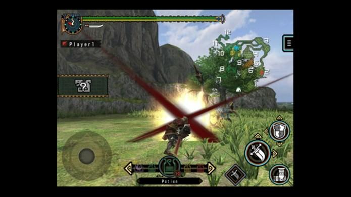 Novo Monster Hunter para iOS é igual ao do PSP (Foto: Divulgação)