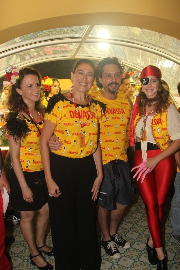 Dani Barros, Lília Cabral, Alexandre Nero e Leandra Leal (Foto: Cleomir Tavares / Divulgação)
