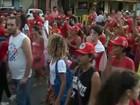 Caruaru tem protesto 'contra o golpe' e em apoio ao governo, a Dilma e a Lula