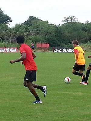 jogadores treino Flamengo (Foto: Richard Souza)