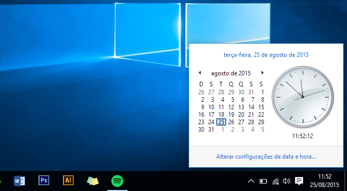 Calendario Windows 10 Su Desktop.Como Usar Calendario E Relogio Analogico Do Win 7 No Windows