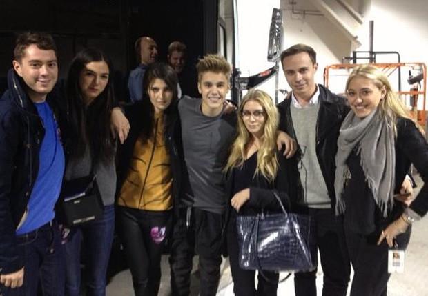Justin Bieber e Ashley Olsen (Foto: Reprodução/Twitter)