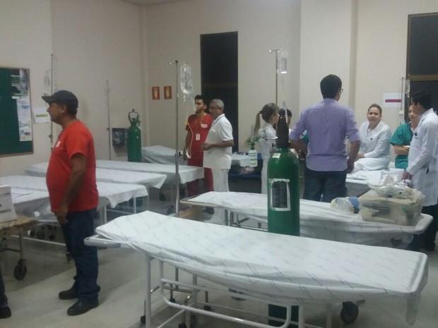 Hospital Geral de Palmas foi preparado para receber os feridos (Foto: Divulgação)