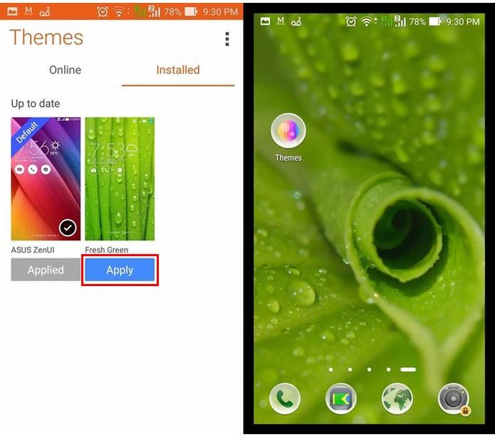 Novo tema no Zenfone 5  (Foto: Reprodução/Felipe Alencar)