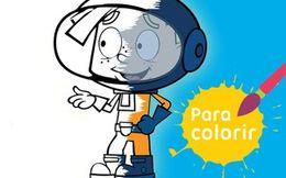 Para colorir: Desastronautas descoloridos