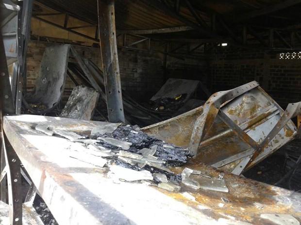 Fábrica ficou destruída em Lagoa da Prata;prejuízo é de aproximadamente R$ 2 milhões (Foto: Alaim de Oliveira/Divulgação)