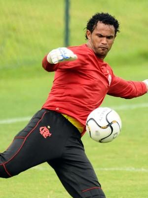 Goleiro Bruno Flamengo (Foto: Marcos Ribolli Globo Esporte)