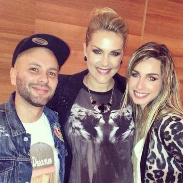 Matheus Mazzafera, Ana Hickmann e Mariana Weickert em festa em São  (Foto: Instagram/ Reprodução)