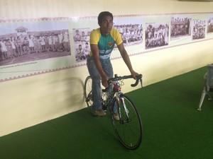Amapaense busca se manter no topo do ranking nacional de ciclismo, em RO (Foto: Rafael Moreira/GE-AP)