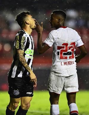 Lucas Lima Thiago Mendes São Paulo (Foto: Marcos Ribolli)