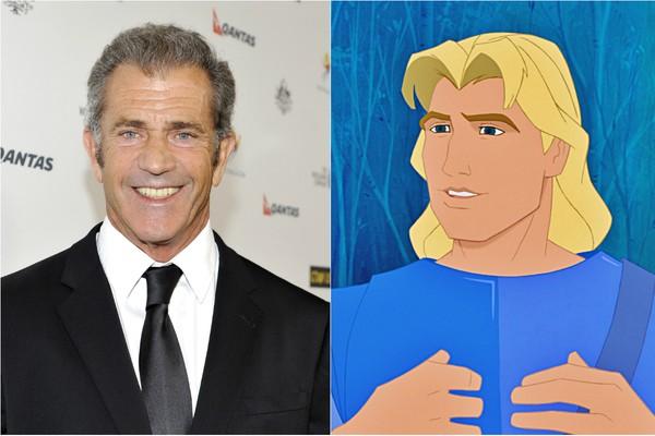 Mel Gibson é mesmo um príncipe! O ator é a voz de John Smith, o par romântico de 'Pocahontas' (Foto: Getty Images)