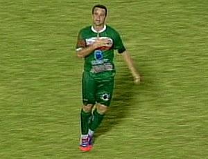 Paulinho Pimentel, o 'Rooney Capixaba', atacante do Conilon (Foto: Reprodução/TV Gazeta Norte)
