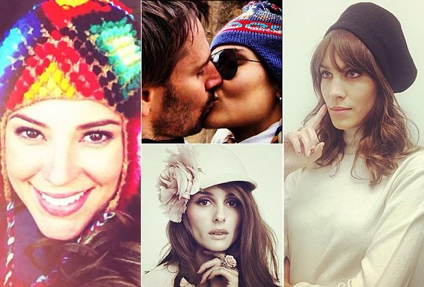 PAOLA OLIVEIRA; FERNANDA TAVARES, OLIVIA PALERMO E ALEXA CHUNG: GORROS E CHAPÉUS ESTILOSOS PARA UM LOOK DIFERENTE (Foto: Reprodução/Instagram)