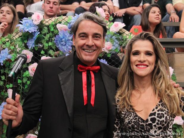 Alexandre Borges e Ingrid Guimarães comandam festa de Serginho (Foto: TV Globo/Altas Horas)