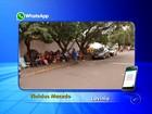 Pais acampam na rua para matricular os filhos em escola de Lavínia