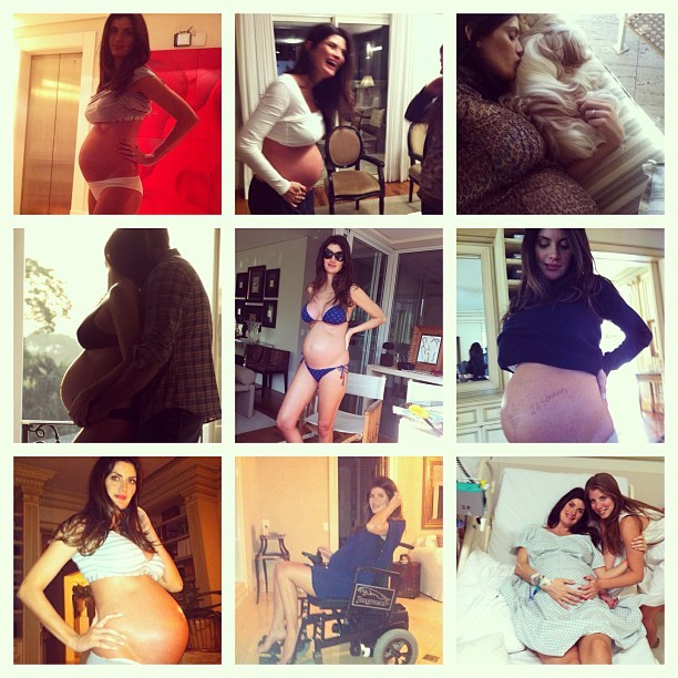 Isabella Fiorentino relembra gravidez em fotos (Foto: Instagram)