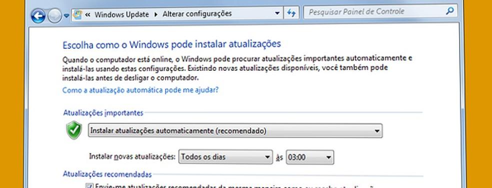 Configure o Windows Update para o modo automático (Foto: Reprodução/Microsoft)