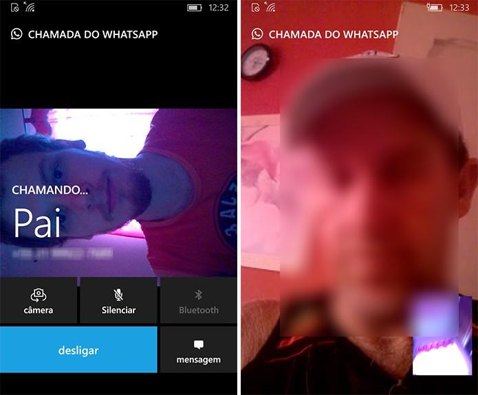 WhatsApp Beta mostrará vídeo da câmera frontal em chamada de vídeo (Foto: Reprodução/Elson de Souza)