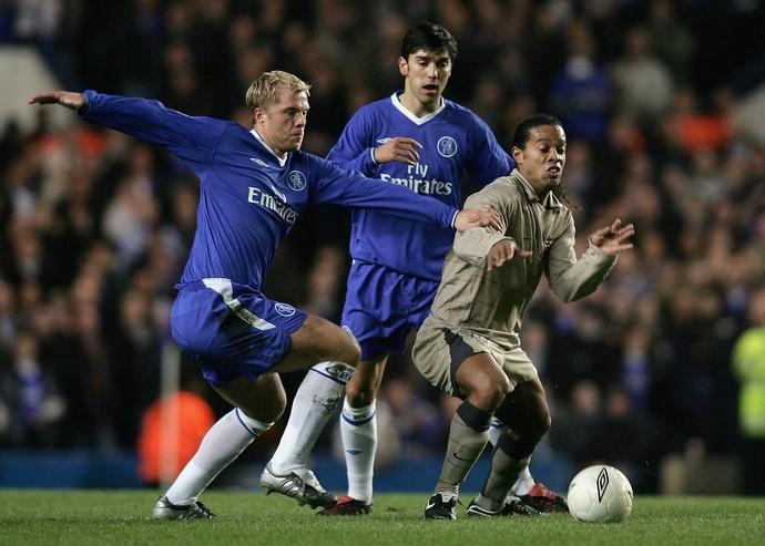 Ronaldinho Barcelona Chelsea 2005 Liga dos Campeões da Europa (Foto: Ben Radford/Getty Images)