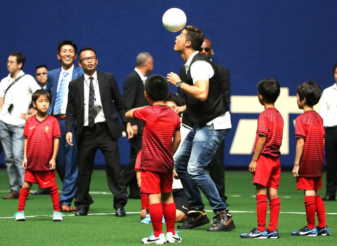 Cristiano Ronaldo Evento Japão (Foto: Agência AFP)