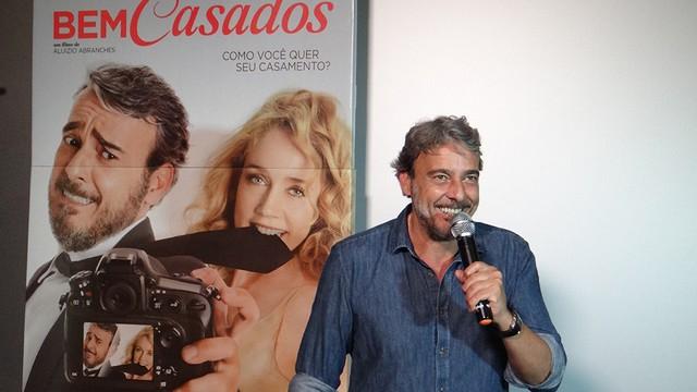 Alexandre Borges na pré-estreia do filme Bem Casados (Foto: Fernanda Maciel)