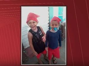 Crianças mortas em incêndio em Cachoeira, na Bahia, eram irmãos de 3 e 5 anos. (Foto: Reprodução/ TV Bahia)