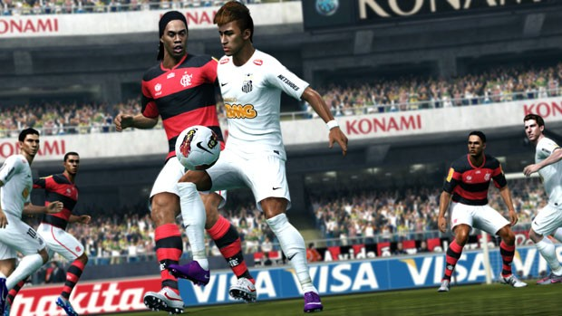 Produtores devem atualizar time do Flamengo e tirar Ronaldinho até o lançamento do título (Foto: Divulgação)
