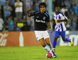 Marcelo Moreno no jogo contra o Cruzeiro-RS (Foto: Grêmio/Divulgação)