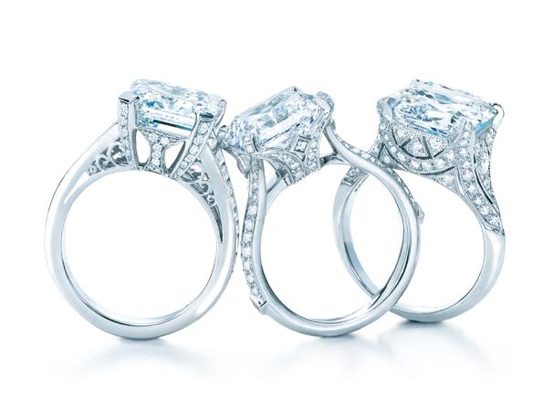 Anéis de diamante em platina (Foto: Divulgação)