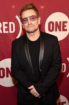Bono Vox em evento em Nova York, nos Estados Unidos (Foto: Theo Wargo/ Getty Images/ AFP)