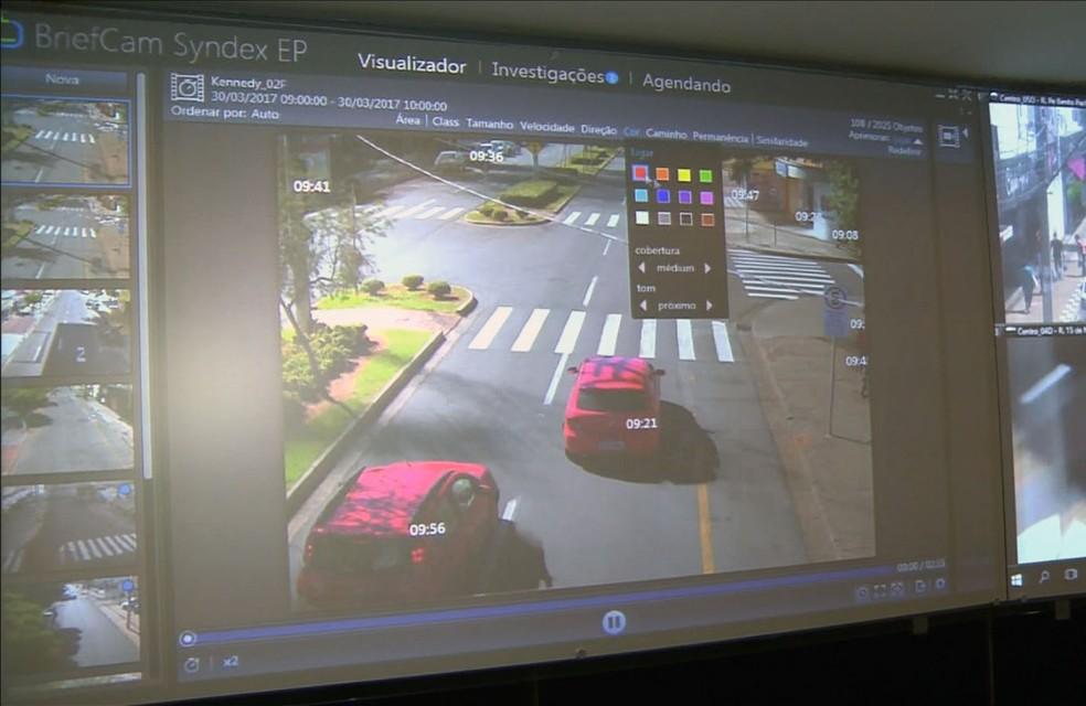 Software israelense usado em Indaiatuba (SP) condensa em um único vídeo horas de gravação (Foto: Reprodução/EPTV)
