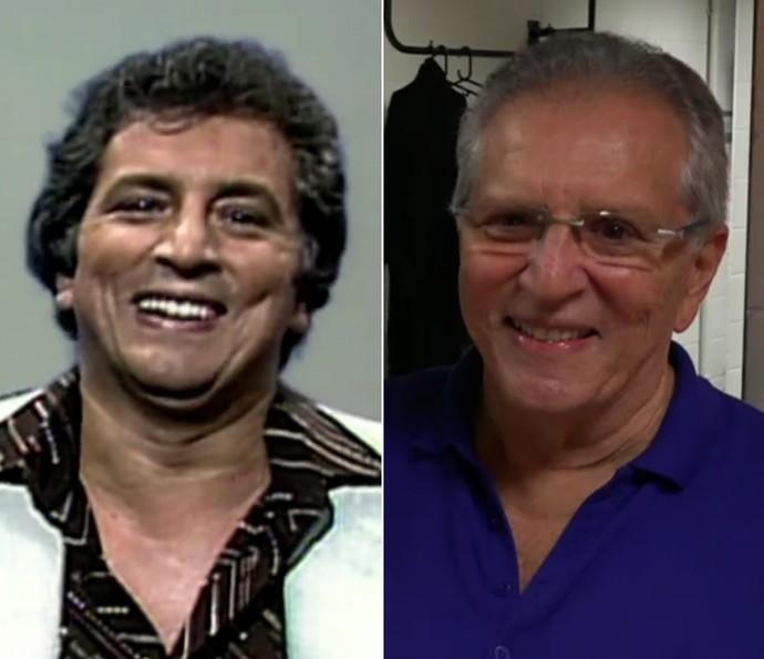 Antes e depois de Carlos Alberto de Nóbrega (Foto: Vídeo Show / TV Globo)