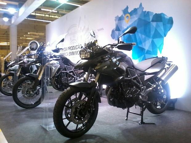 Modelos de motos BMW fabricadas na planta na cidade de Manaus (Foto: Ive Rylo / G1 AM)