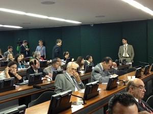 José Genoino e João Paulo Cunha participam de sessão da CCJ que aprovou projeto que submete decisões do STF ao Congresso  (Foto: Nathalia Passarinho/G1)