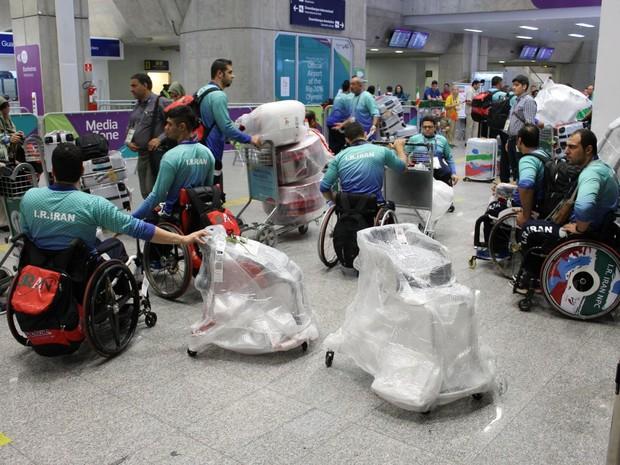 Atletas paralímpicos desembarcam nesta segunda-feira no Galeão (Foto: Divulgação/Rio Galeão)