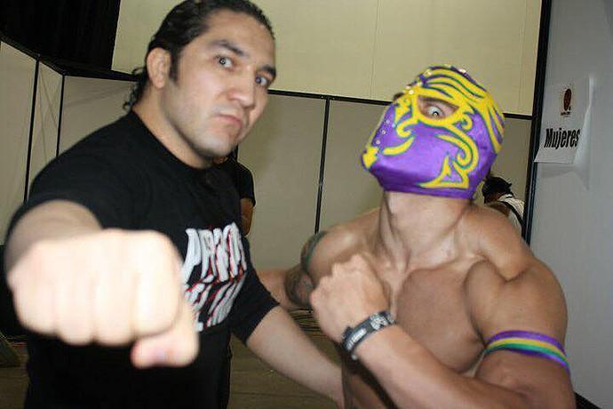 lutador Zumbi Brasileiro com Pedro Aguayo (Foto: Arquivo Pessoal)