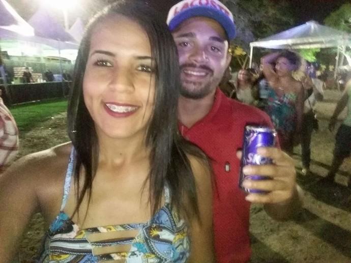 A Luana Caldeira aproveitou um dos festivais mais tops do estado (Foto: Arquivo Pessoal)