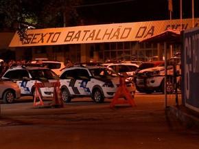 Sexto Batalhão, na Serra, Espírito Santo (Foto: Reprodução/ TV Gazeta)