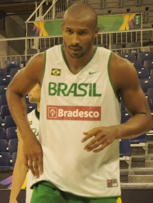 Leandrinho, seleção brasileira, Mundial de basquete (Foto: Fabio Leme)
