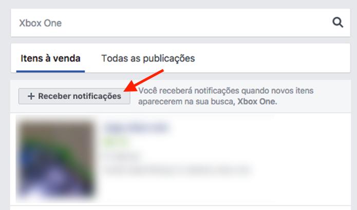 Opção para ativar notificações para novos anúncios de um produto em um grupo do Facebook (Foto: Reprodução/Marvin Costa)