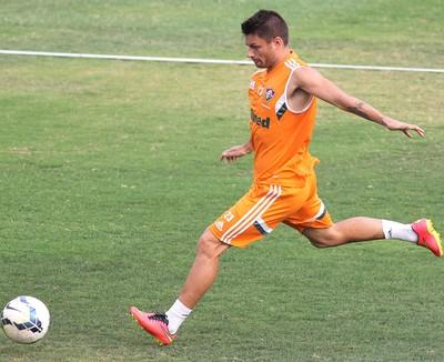 Rafael Sobis treino Fluminense (Foto: Fernando Cazaes / Photocamera)