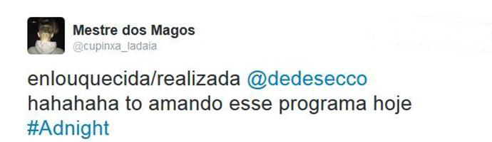 Internauta elogia participação de Deborah Secco (Foto: Reprodução)