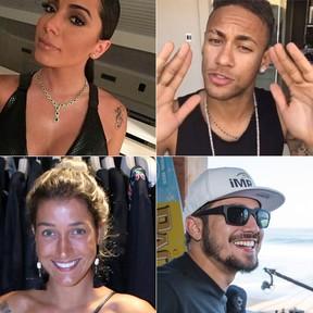Réveillon dos famosos - Anitta, Neymar, Gabriela Pugliesi e Caio Castro (Foto: EGO)