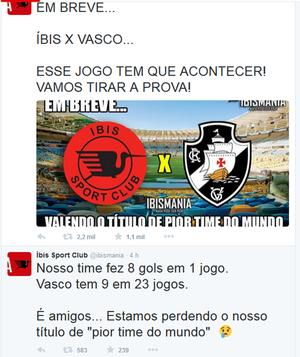 íbis x vasco (Foto: Reprodução / Twitter)