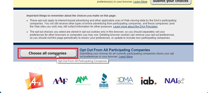 Clique para impedir que qualquer empresa obtenha seus dados (Foto: Reprodução/Paulo Alves)