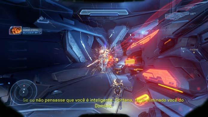 Fuja do Warden e procure não desperdiçar munição (Foto: Reprodução/Murilo Molina)
