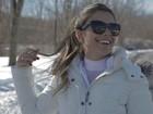 Paula Fernandes relembra as férias e o frio da cidade de Boston: 'Ri demais'