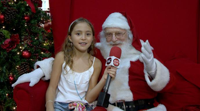 Teve até dica do Papai Noel, o que será que o bom velhinho indicou? (Foto: Divulgação/ TV Gazeta)
