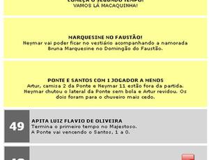 Site da Ponte Preta ironiza Neymar após expulsão (Foto: Reproduçãi internet)